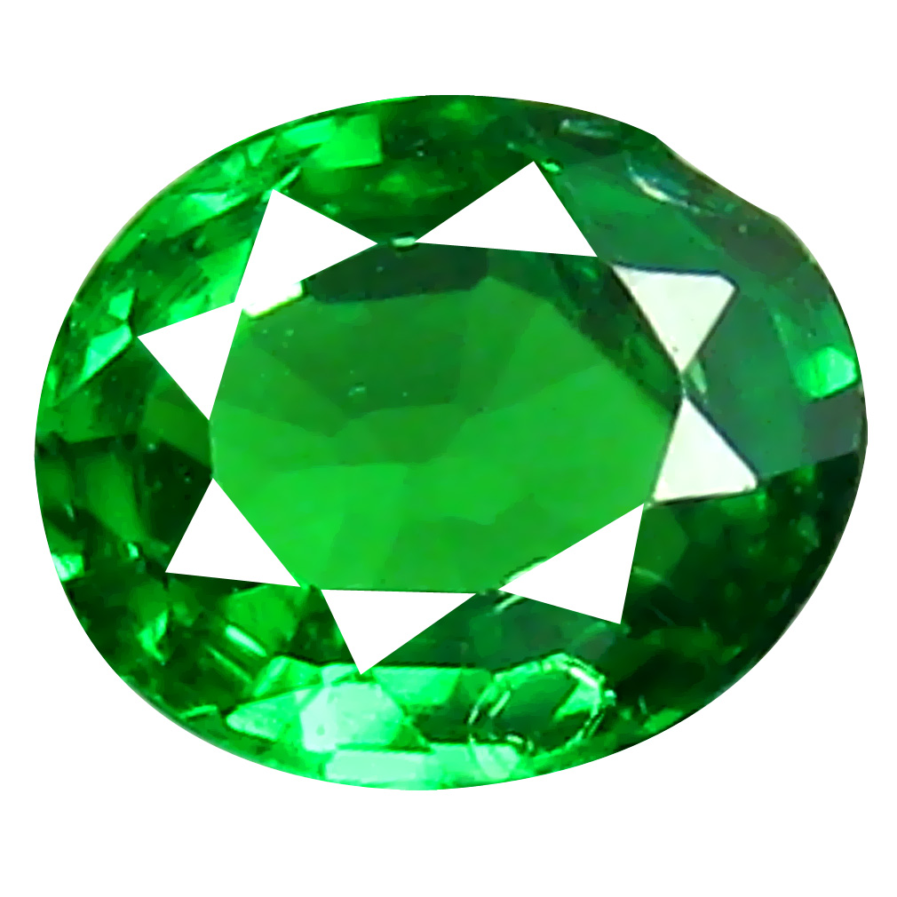 0.30 ct Splendid Oval Cut (5 x 4 mm) Tanzanian Green Tsavorite Garnet Loose Gemstone