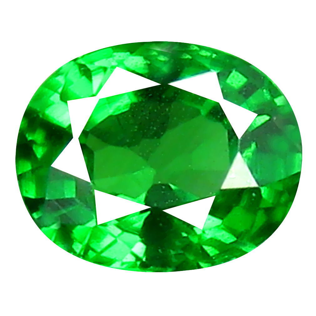 0.47 ct Shimmering Oval Cut (5 x 4 mm) Tanzanian Green Tsavorite Garnet Loose Gemstone