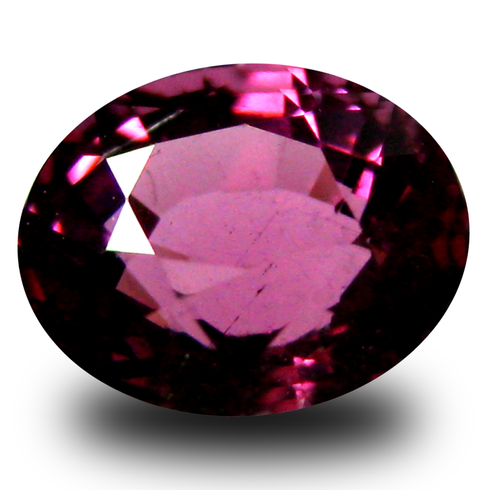 1.03 ct AAA+ Outstanding Oval Shape (6 x 5 mm) Pinkish Red Rhodolite Garnet Natural Gemstone