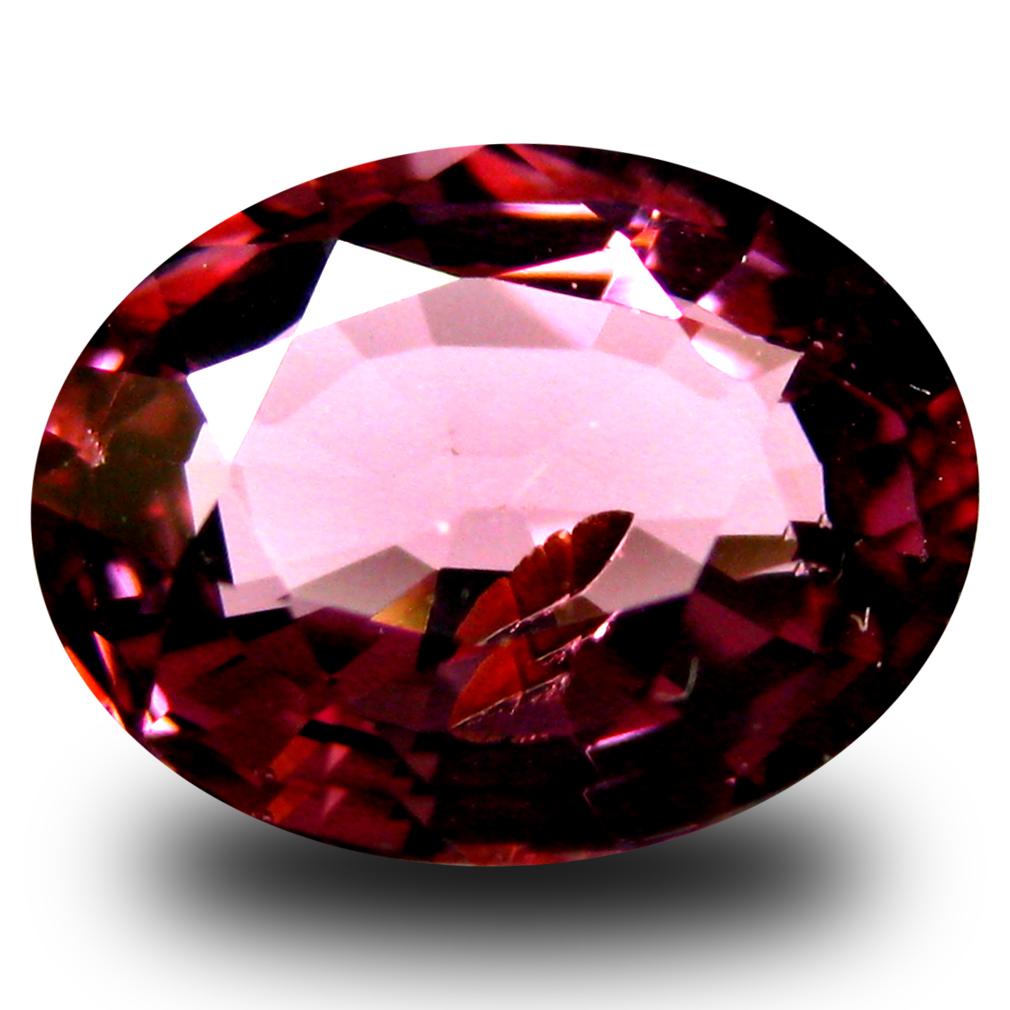 1.84 ct AAA+ Romantic Oval Shape (8 x 7 mm) Pinkish Red Rhodolite Garnet Natural Gemstone