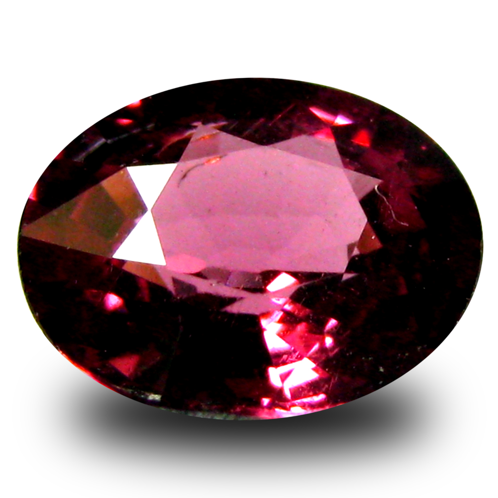 1.23 ct AAA+ Extraordinary Oval Shape (7 x 6 mm) Pinkish Red Rhodolite Garnet Natural Gemstone