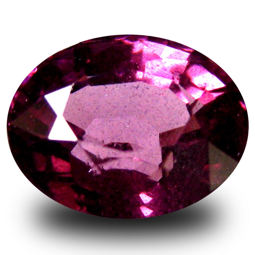 1.59 ct AAA+ Shimmering Oval Shape (7 x 6 mm) Pinkish Red Rhodolite Garnet Natural Gemstone