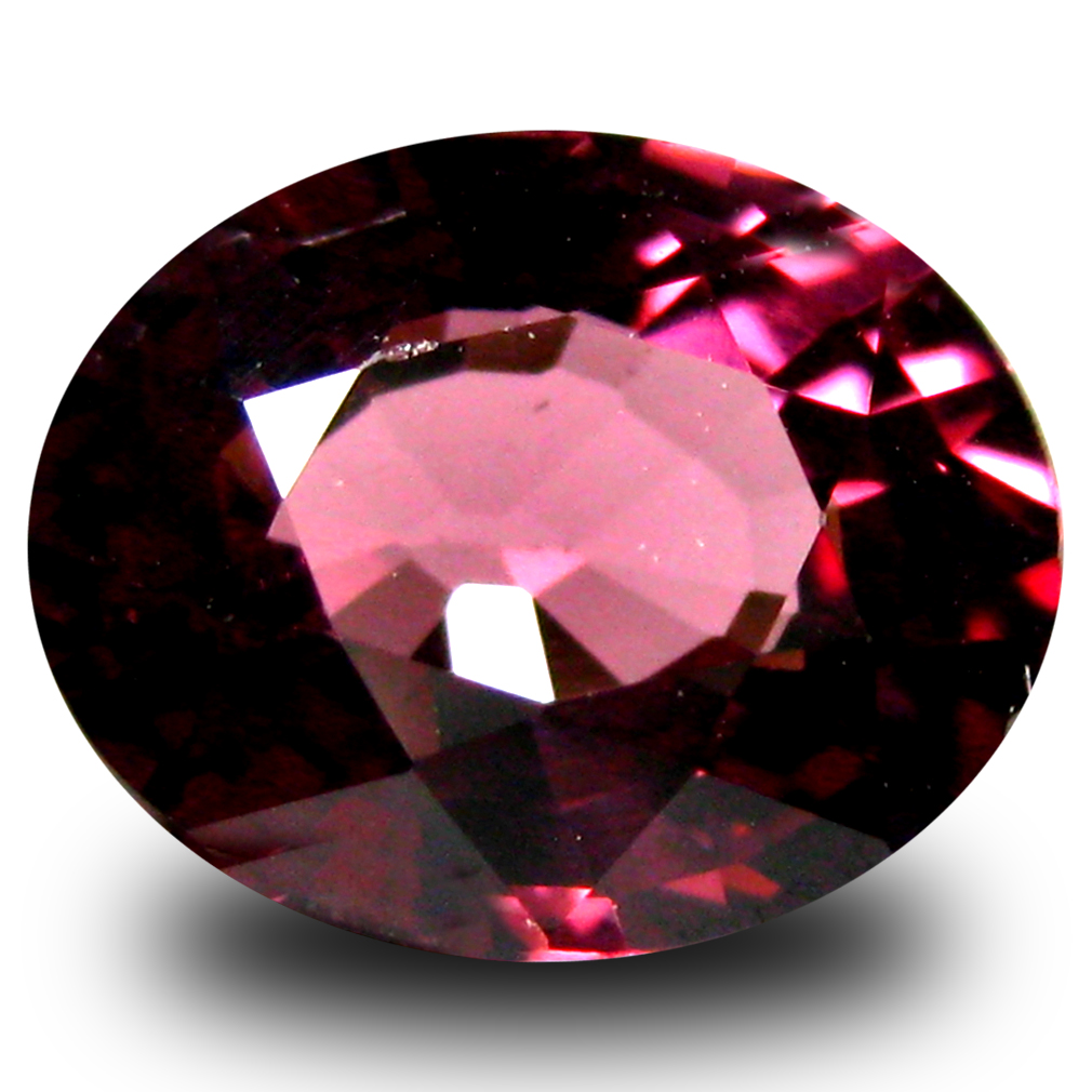 1.69 ct AAA+ Premium Oval Shape (8 x 7 mm) Pinkish Red Rhodolite Garnet Natural Gemstone