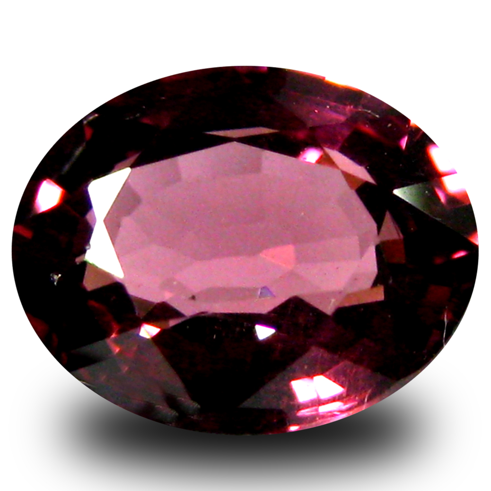 1.35 ct AAA+ Superb Oval Shape (7 x 6 mm) Pinkish Red Rhodolite Garnet Natural Gemstone
