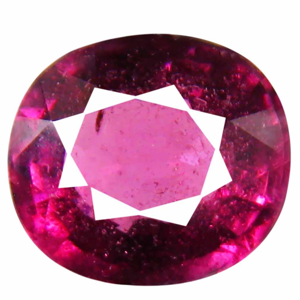 2.02 ct Gorgeous Un-Heated Oval Cut (8 x 7 mm) Purplish Pink Rhodolite Garnet