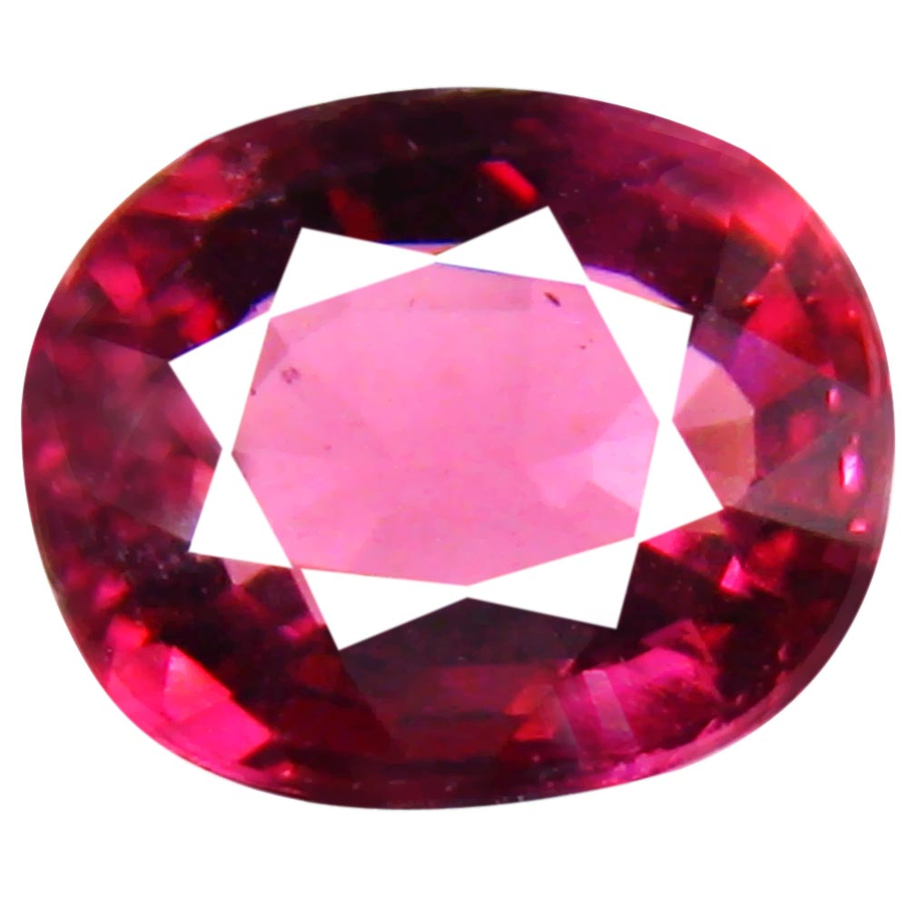 1.58 ct Phenomenal Un-Heated Oval Cut (7 x 6 mm) Purplish Pink Rhodolite Garnet
