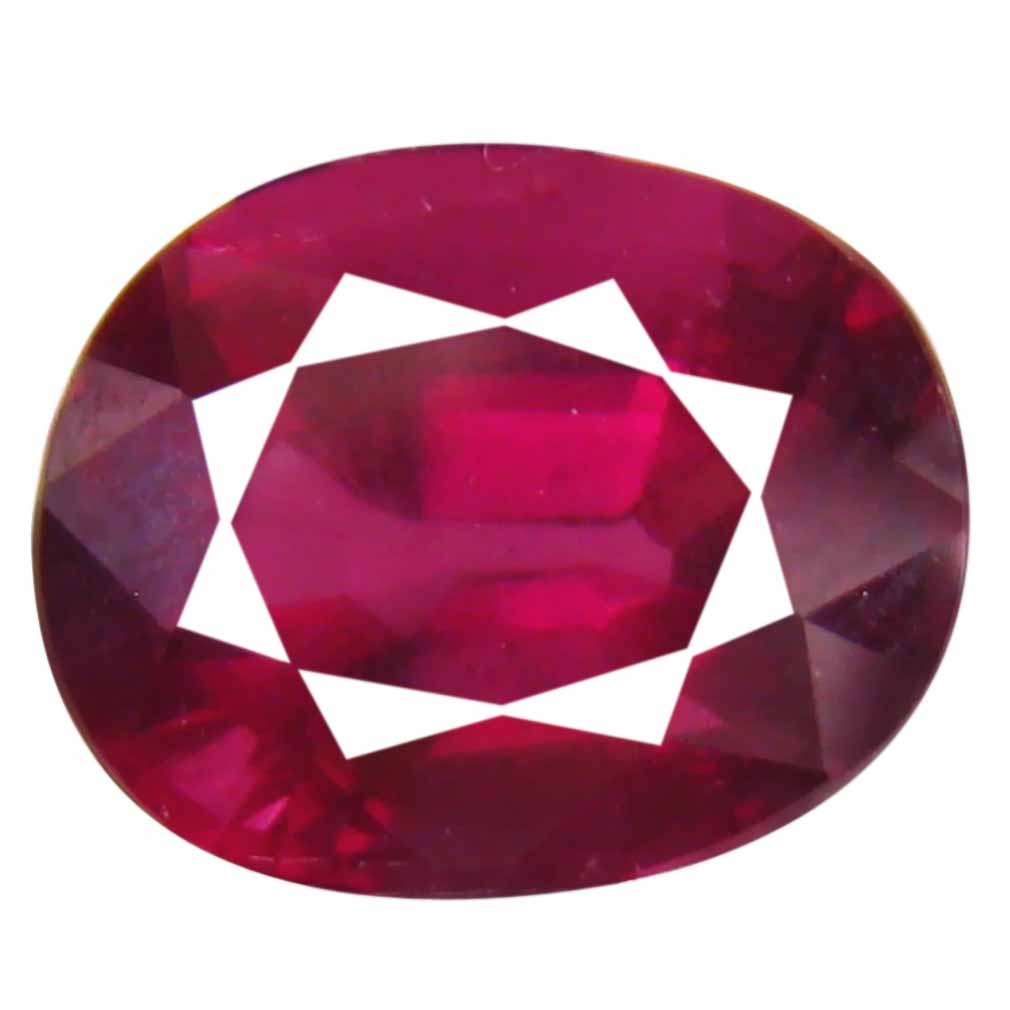 3.68 ct Awe-inspiring Un-Heated Oval Cut (10 x 8 mm) Purplish Pink Rhodolite Garnet