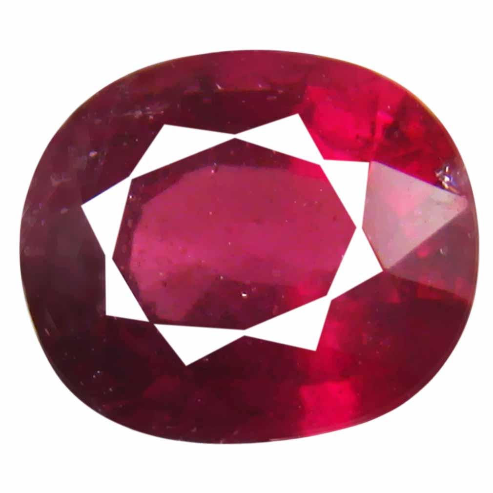 3.30 ct Shimmering Un-Heated Oval Cut (9 x 8 mm) Purplish Pink Rhodolite Garnet