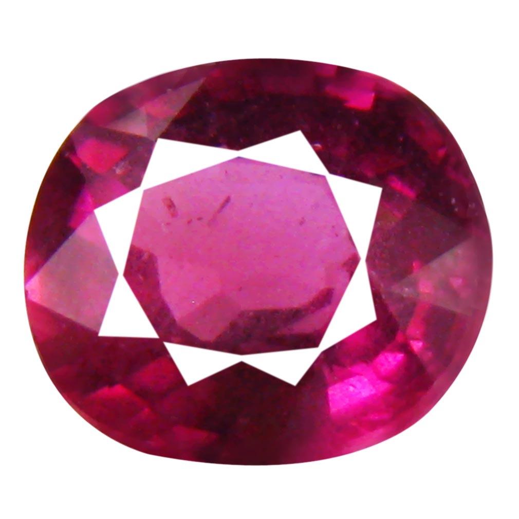 2.00 ct Stunning Un-Heated Oval Cut (8 x 7 mm) Purplish Pink Rhodolite Garnet