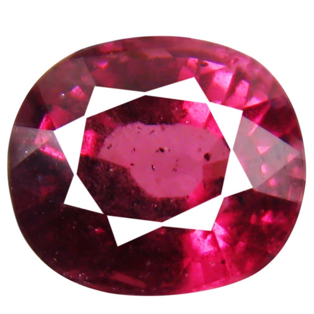 2.40 ct Unbelievable Un-Heated Oval Cut (8 x 7 mm) Purplish Pink Rhodolite Garnet