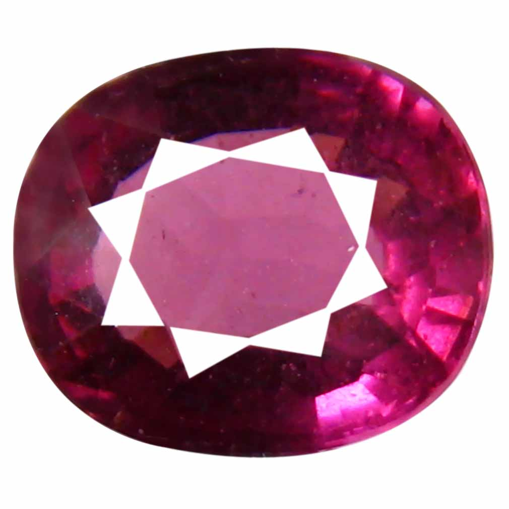 2.45 ct Astonishing Un-Heated Oval Cut (8 x 7 mm) Purplish Pink Rhodolite Garnet