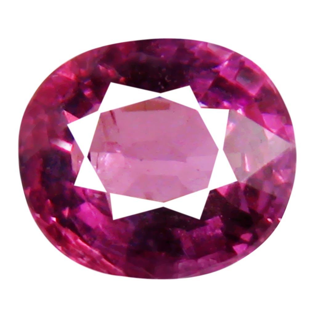 1.43 ct Astonishing Un-Heated Oval Cut (7 x 6 mm) Purplish Pink Rhodolite Garnet