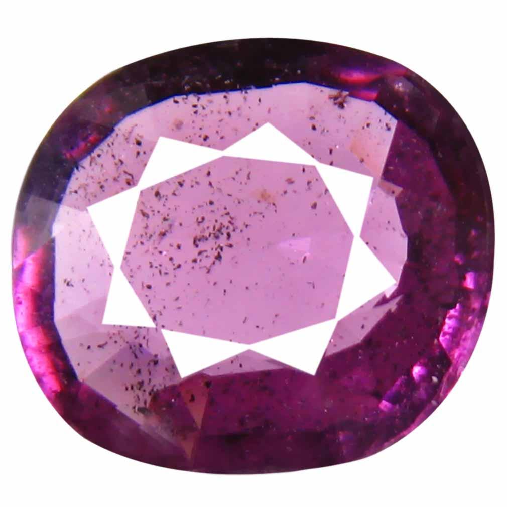 2.13 ct Wonderful Un-Heated Oval Cut (9 x 8 mm) Purplish Pink Rhodolite Garnet