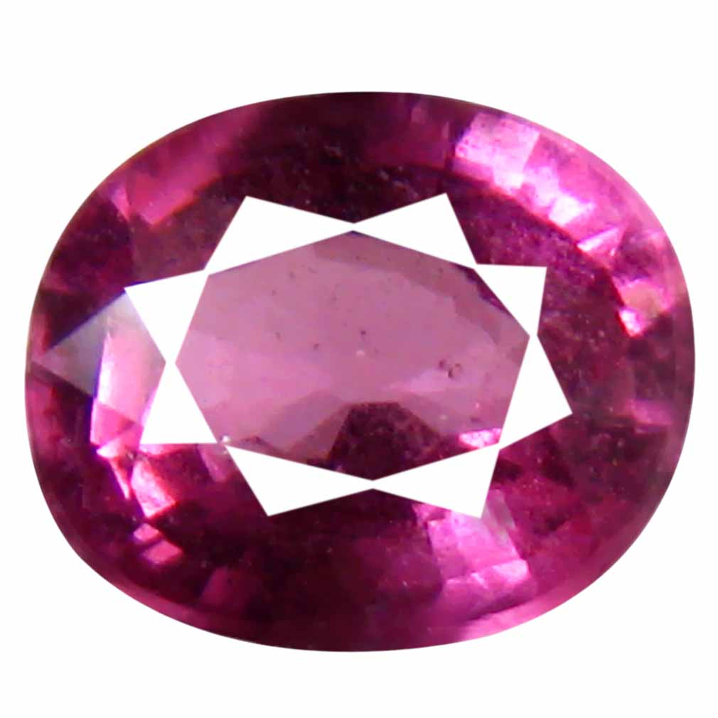 0.85 ct Marvelous Un-Heated Oval Cut (6 x 5 mm) Purplish Pink Rhodolite Garnet