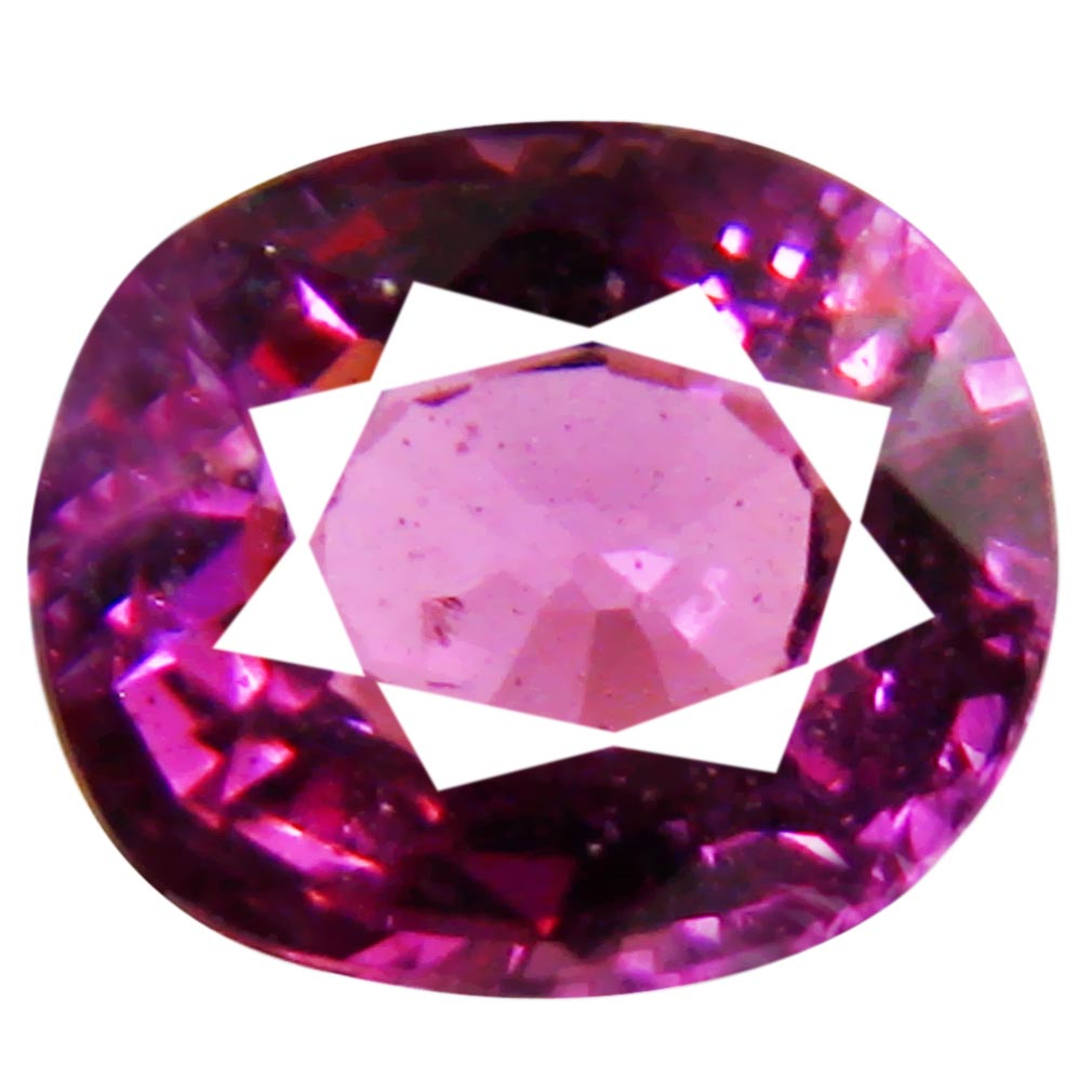 1.10 ct Topnotch Un-Heated Oval Cut (6 x 5 mm) Purplish Pink Rhodolite Garnet