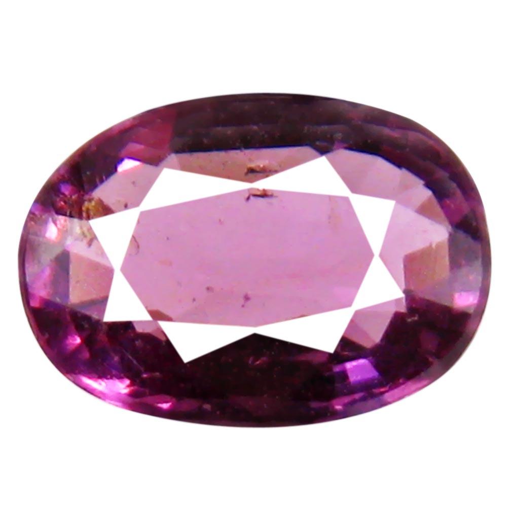 1.05 ct Elegant Un-Heated Oval Cut (7 x 5 mm) Purplish Pink Rhodolite Garnet