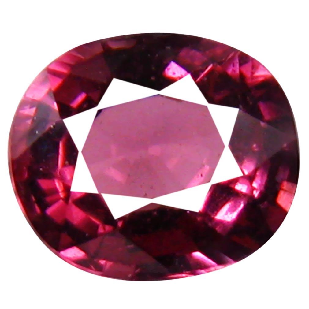 1.10 ct Beautiful Un-Heated Oval Cut (6 x 5 mm) Purplish Pink Rhodolite Garnet
