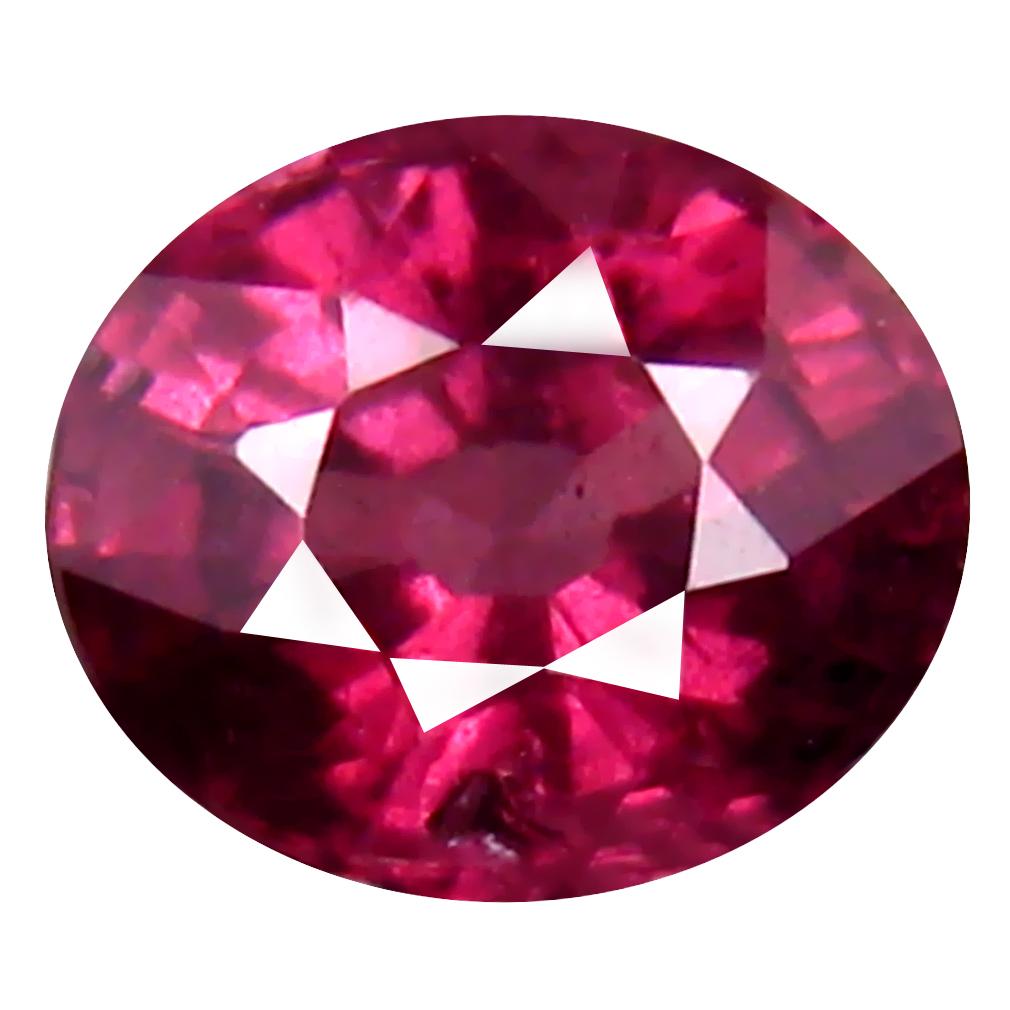 1.18 ct Amazing Oval Cut (7 x 6 mm) Tanzania Pink Malaya Garnet Natural Gemstone