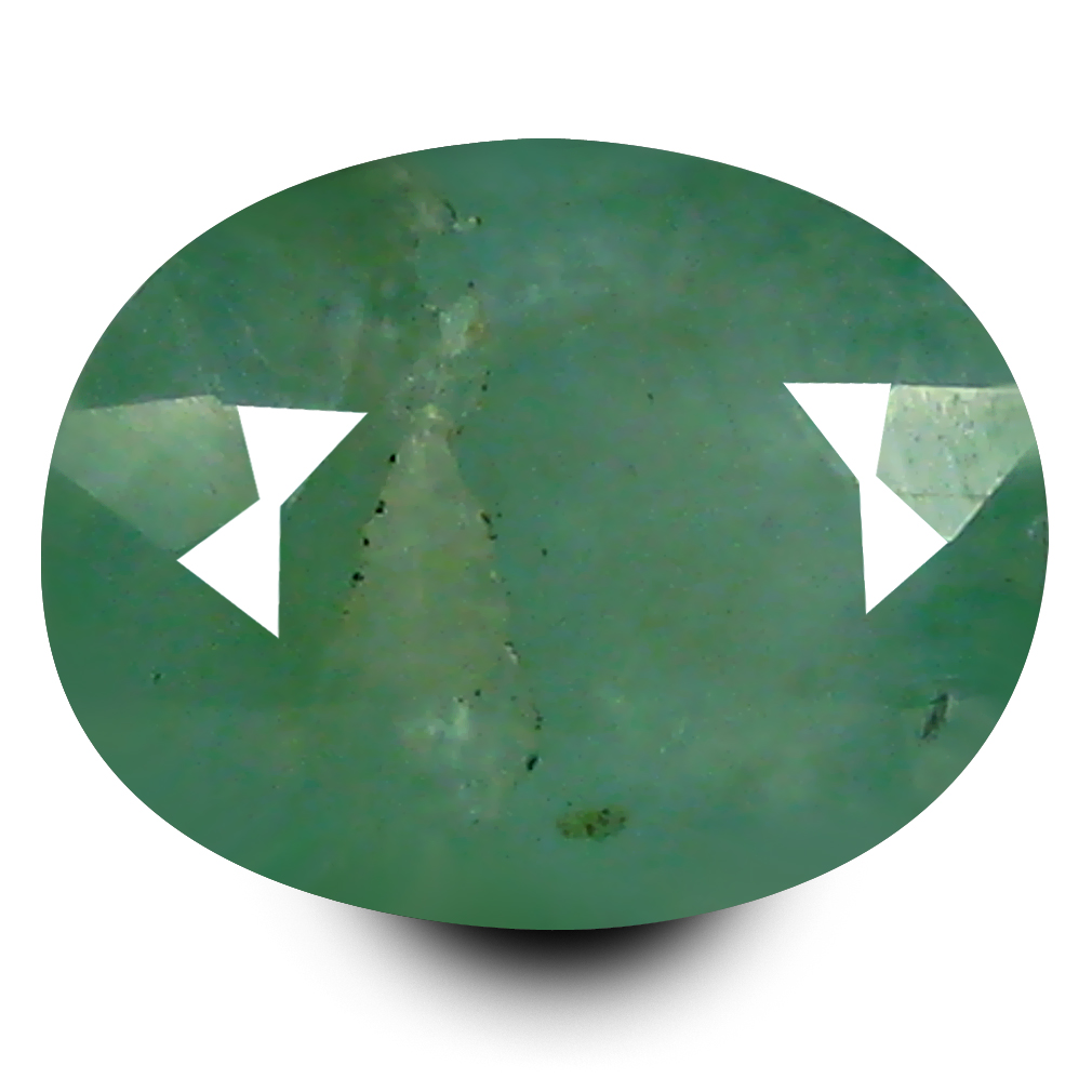1.63 ct AAA Exquisite Oval Shape (8 x 6 mm) Bluish Green Grandidierite Natural Gemstone