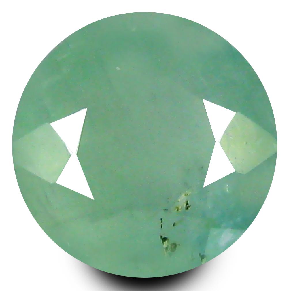1.07 ct AAA Astonishing Round Shape (7 x 7 mm) Bluish Green Grandidierite Natural Gemstone