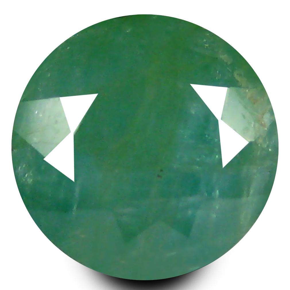 1.28 ct AAA Sparkling Round Shape (7 x 7 mm) Bluish Green Grandidierite Natural Gemstone