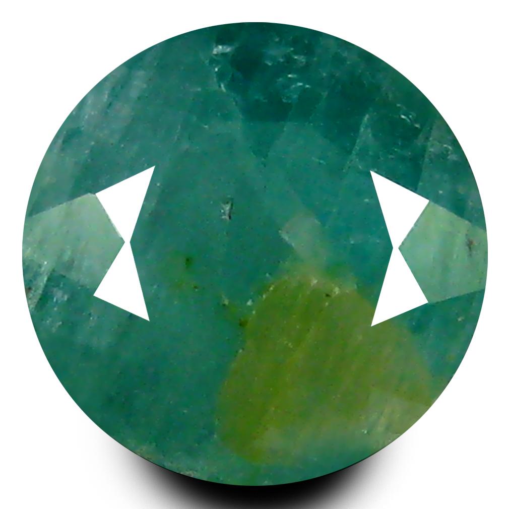 0.82 ct AAA Charming Round Shape (6 x 6 mm) Bluish Green Grandidierite Natural Gemstone