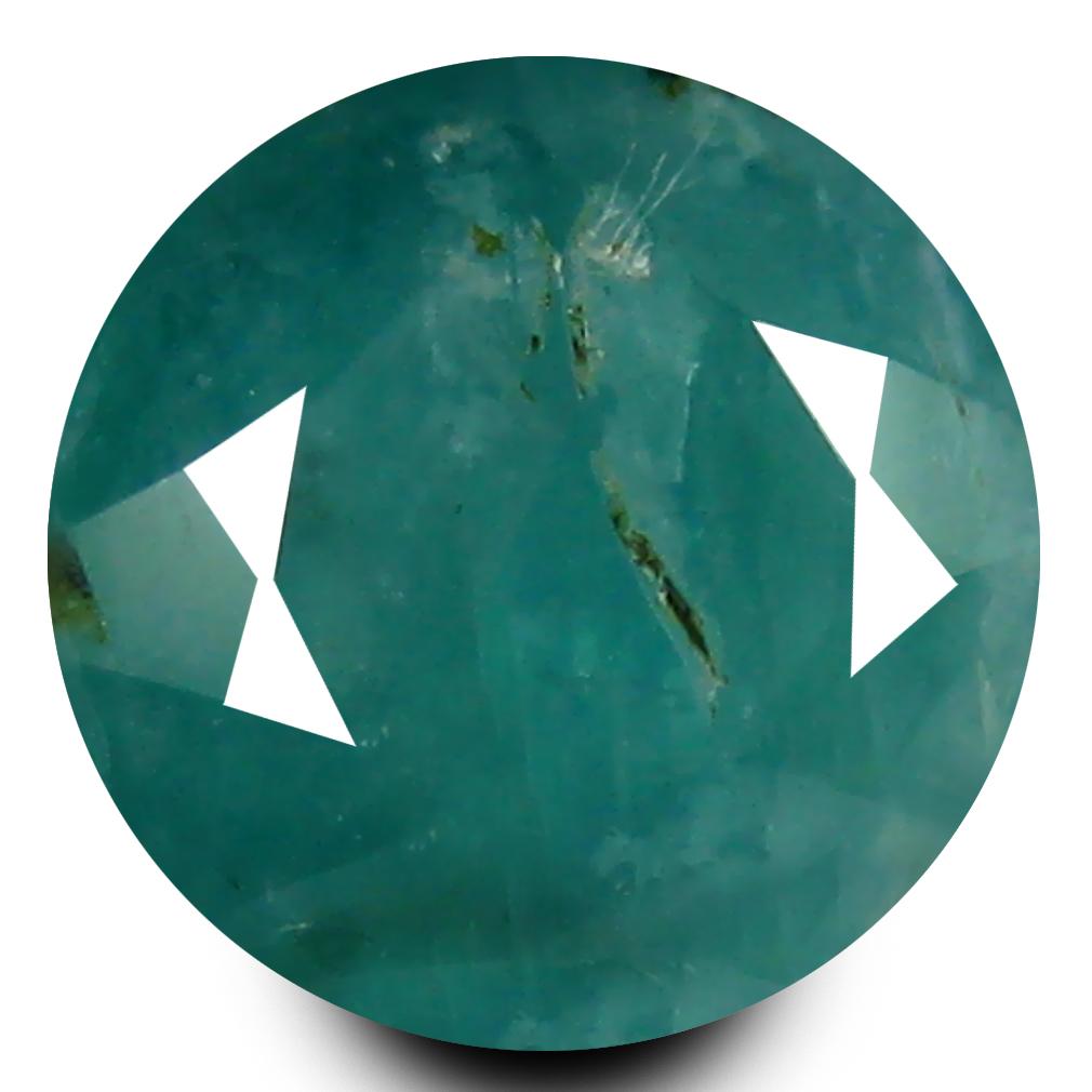 0.76 ct AAA Awe-inspiring Round Shape (6 x 6 mm) Bluish Green Grandidierite Natural Gemstone
