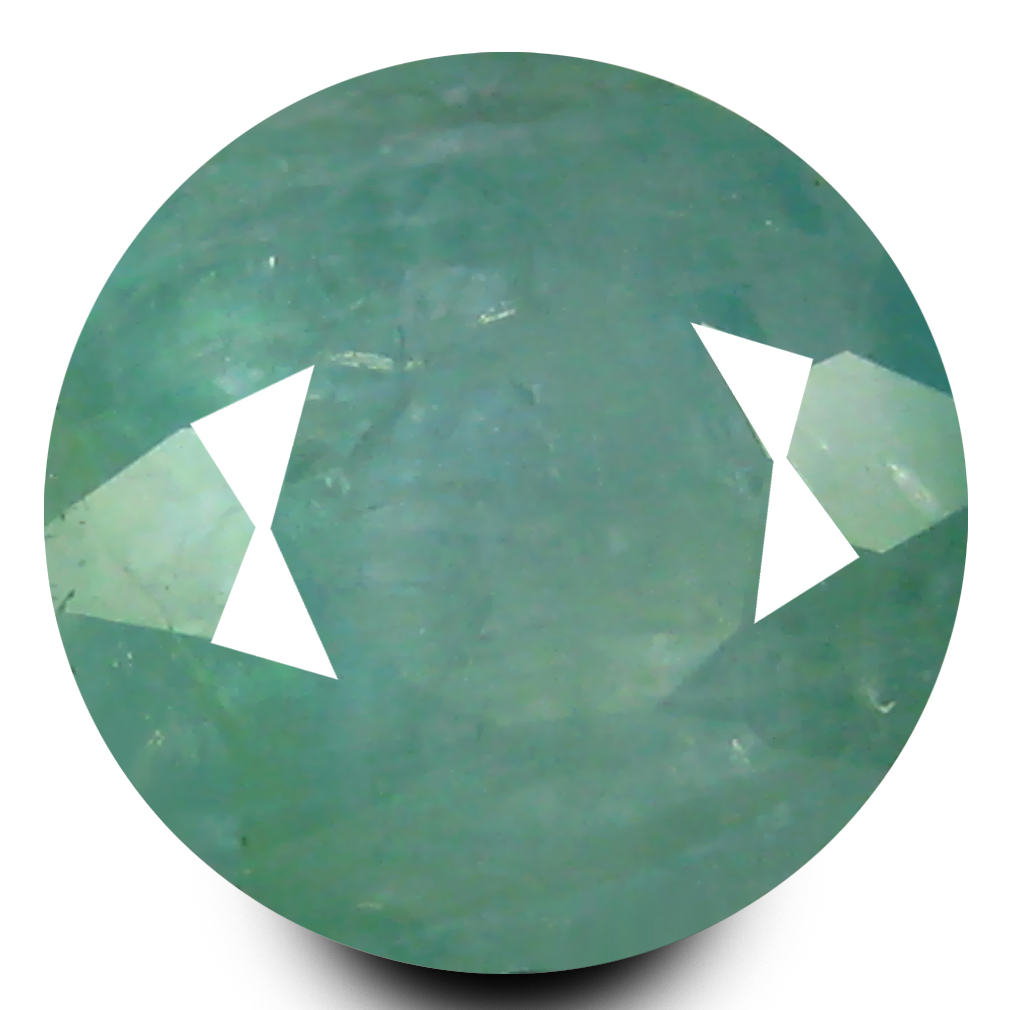0.58 ct AAA Eye-popping Round Shape (5 x 5 mm) Bluish Green Grandidierite Natural Gemstone