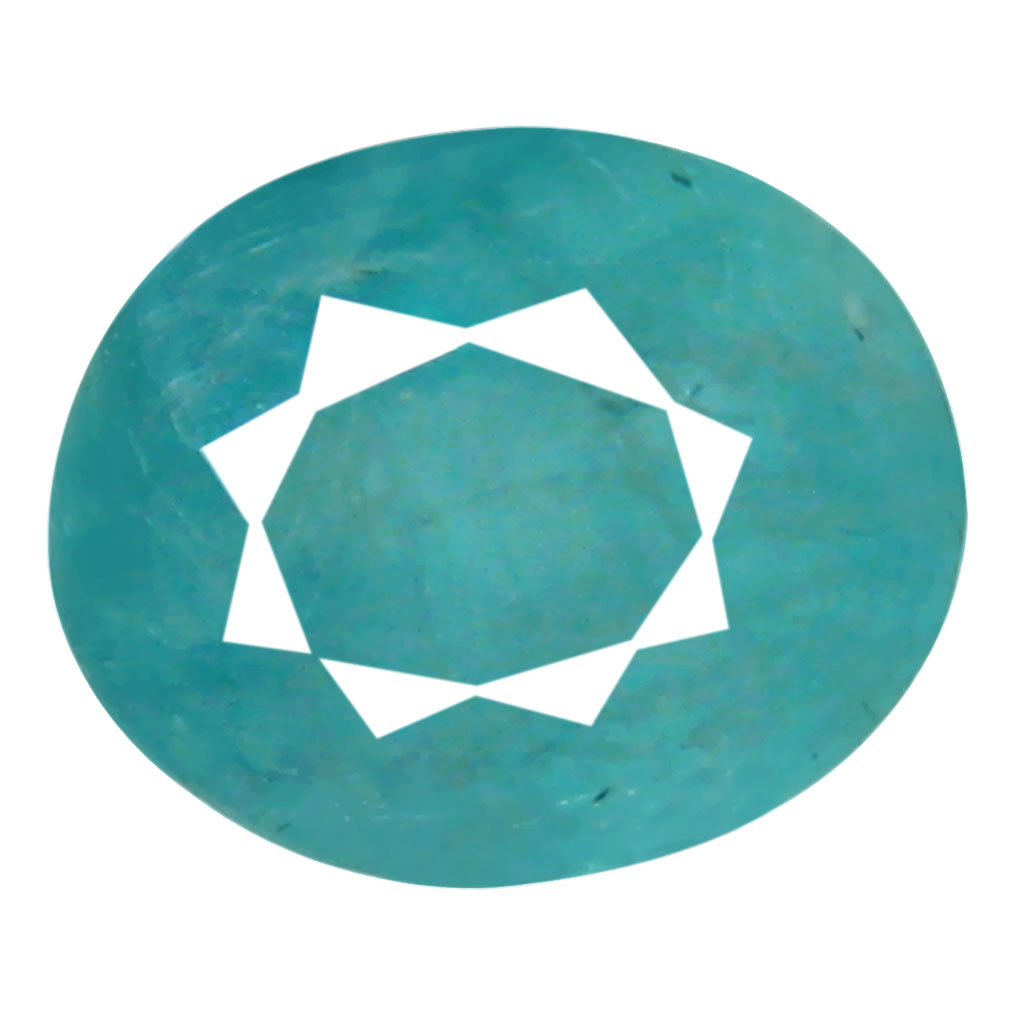 0.56 ct AAA Premium Oval Shape (6 x 5 mm) Greenish Blue Grandidierite Natural Gemstone