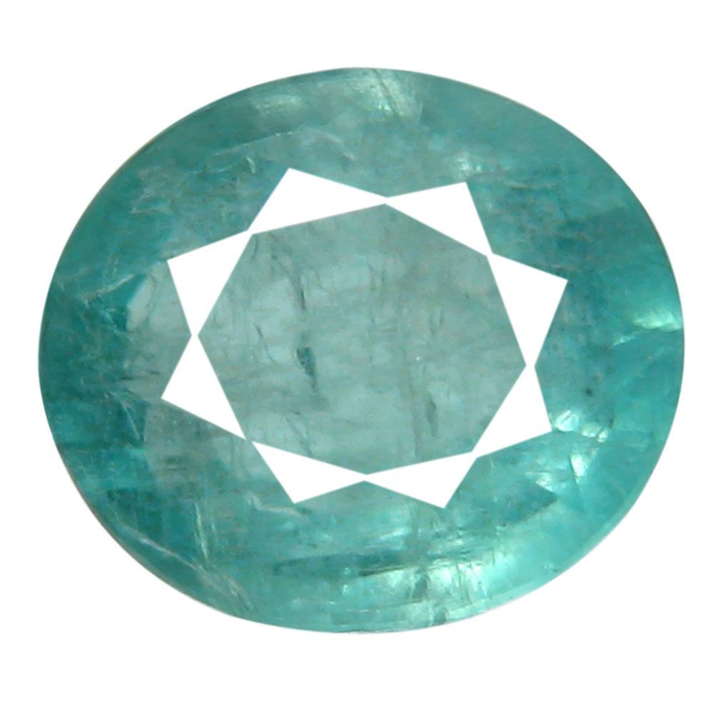 0.90 ct AAA Exquisite Oval Shape (7 x 6 mm) Greenish Blue Grandidierite Natural Gemstone