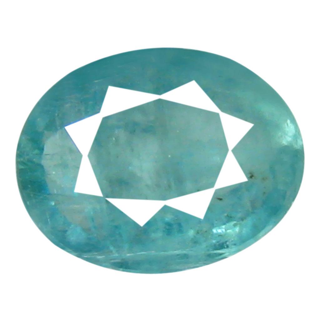 0.51 ct AAA Five-star Oval Shape (6 x 5 mm) Greenish Blue Grandidierite Natural Gemstone
