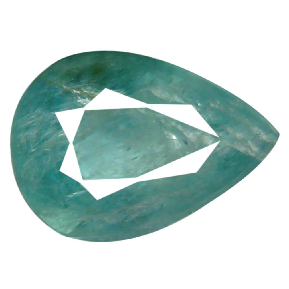 0.56 ct AAA Topnotch Pear Shape (7 x 5 mm) Greenish Blue Grandidierite Natural Gemstone