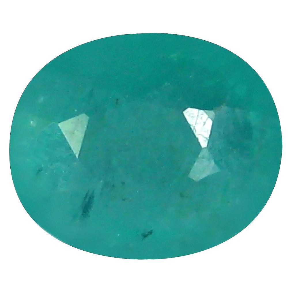 1.25 ct Grand looking Oval Cut (8 x 7 mm) Unheated / Untreated Greenish Blue Grandidierite Natural Gemstone