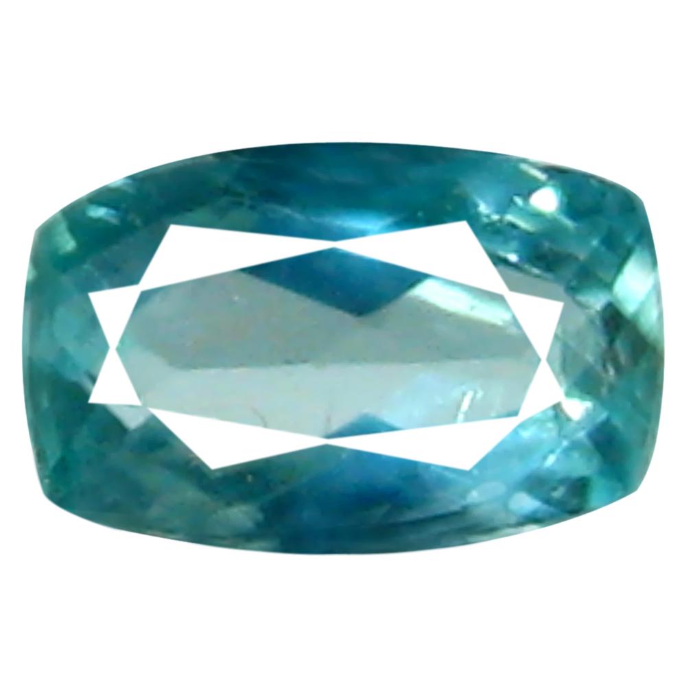 0.08 ct AAA+ VVS-VS Eye-popping Unheated / Untreated Cushion Cut (4 x 2 mm) Greenish Blue Grandidierite