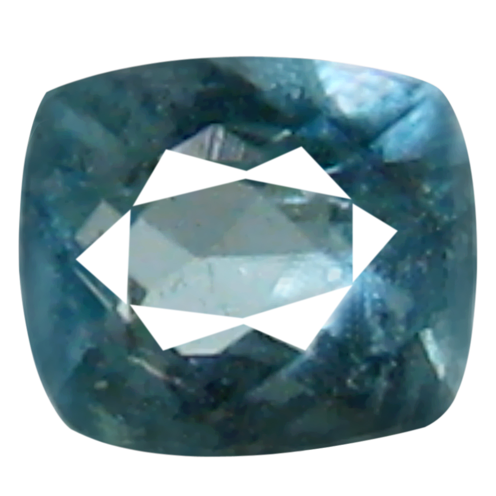 0.07 ct AAA+ VVS-VS Gorgeous Unheated / Untreated Cushion Cut (3 x 2 mm) Greenish Blue Grandidierite