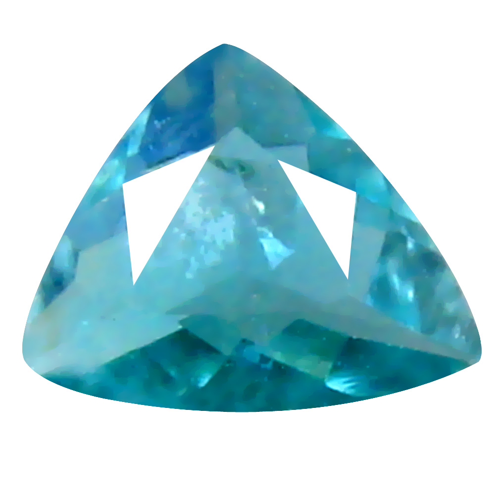 0.15 ct AAA+ VVS-VS Exquisite Unheated / Untreated Trillion Cut (4 x 4 mm) Greenish Blue Grandidierite