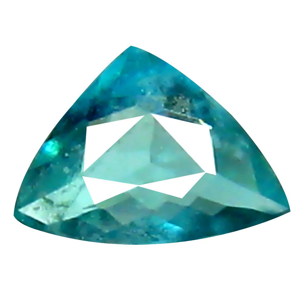 0.11 ct AAA+ VVS-VS Eye-catching Unheated / Untreated Trillion Cut (4 x 3 mm) Greenish Blue Grandidierite