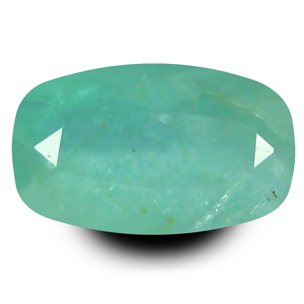 0.83 ct  Excellent Cushion Shape (8 x 5 mm) Greenish Blue Grandidierite Natural Gemstone