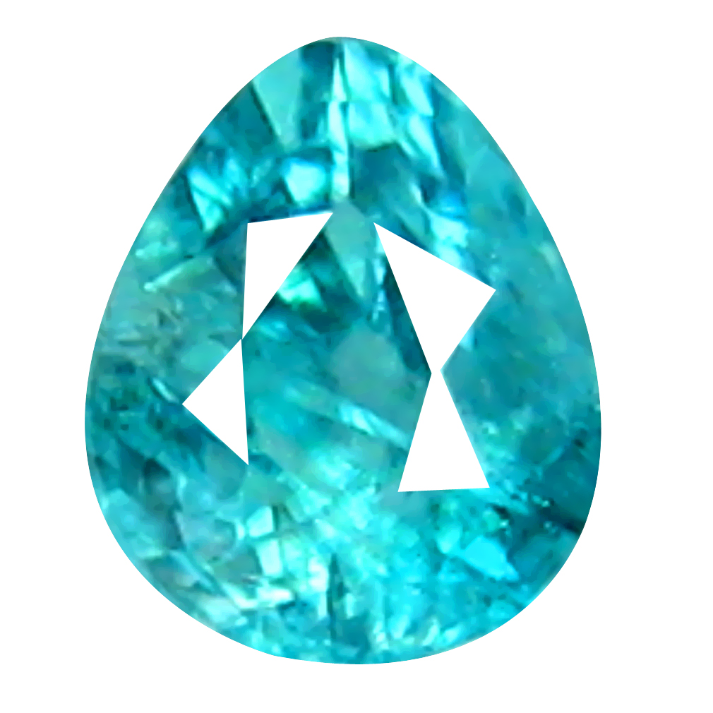 0.13 ct AAA+ VVS SPLENDID UNHEATED / UNTREATED PEAR CUT (3 X 3 MM) GREENISH BLUE GRANDIDIERITE
