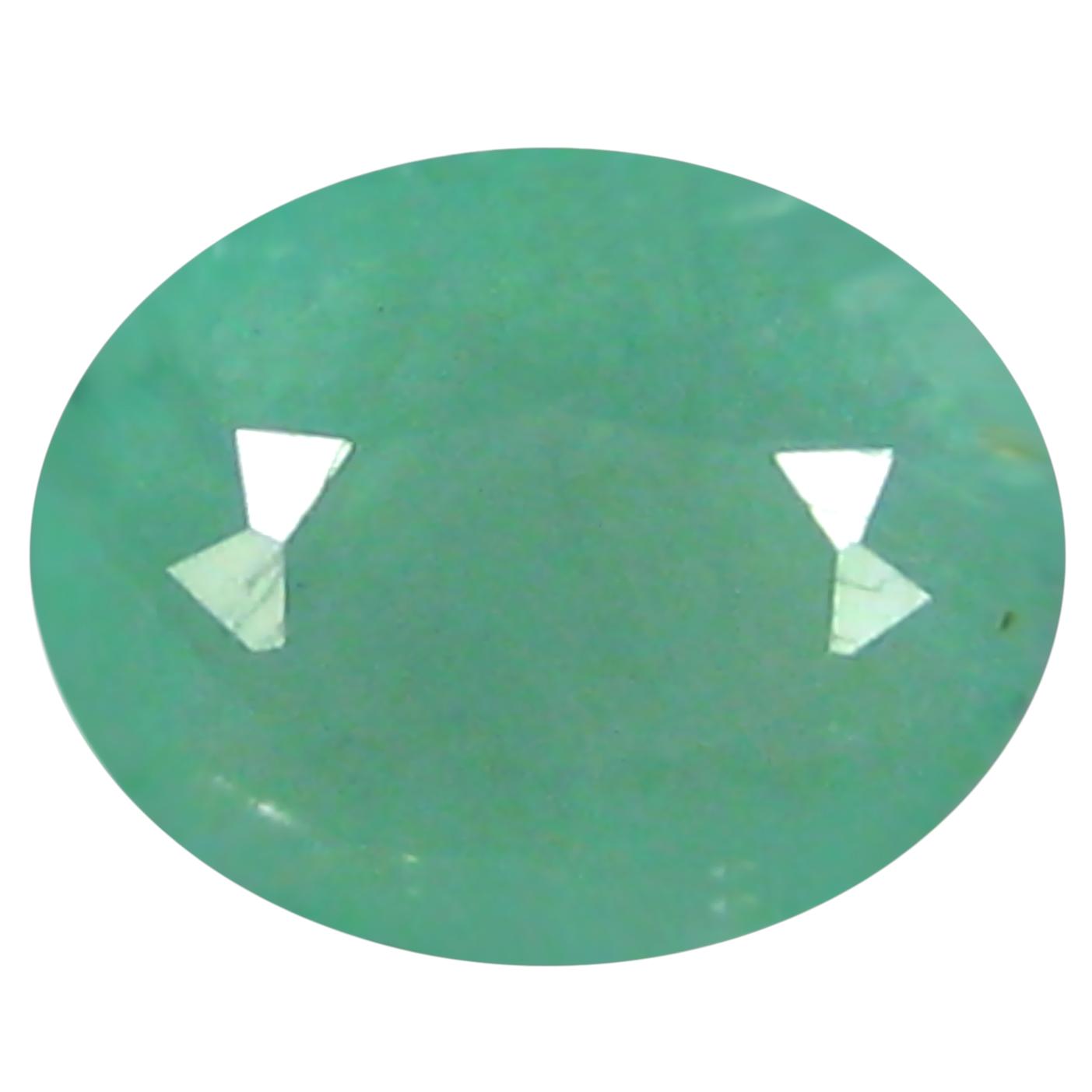 0.53 ct  Five-star Oval Shape (6 x 5 mm) Bluish Green Grandidierite Natural Gemstone