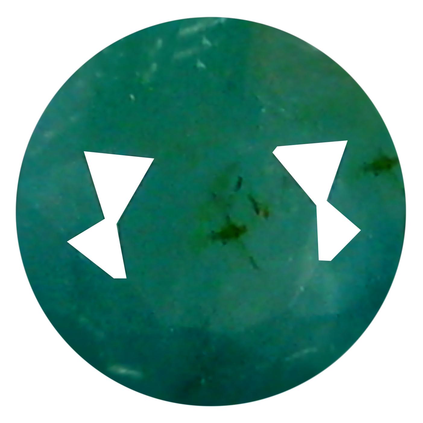 0.29 ct  Valuable Round Shape (4 x 4 mm) Bluish Green Grandidierite Natural Gemstone