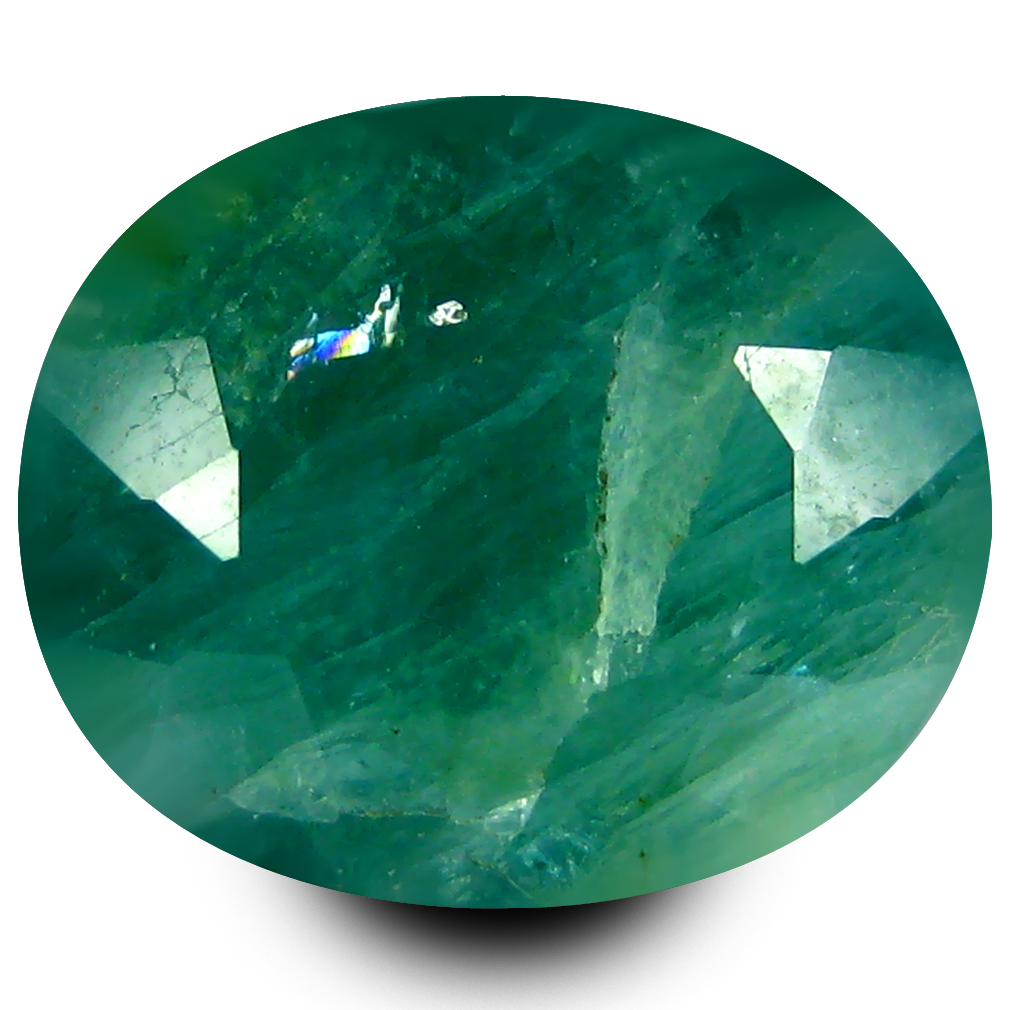 3.34 ct Great looking Oval Cut (10 x 8 mm) Un-Heated Bluish Green Grandidierite Natural Gemstone