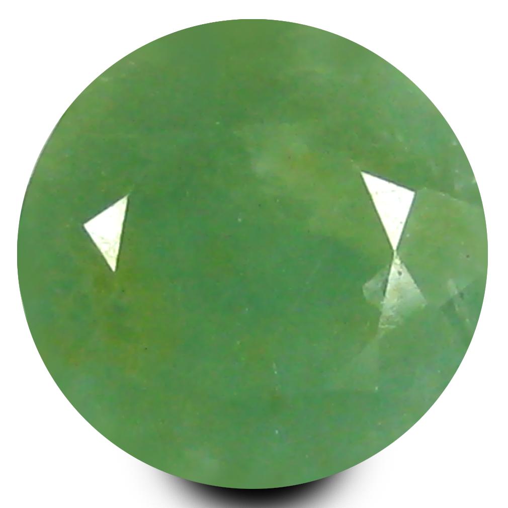 1.75 ct Good-looking Round Cut (8 x 8 mm) Un-Heated Bluish Green Grandidierite Natural Gemstone
