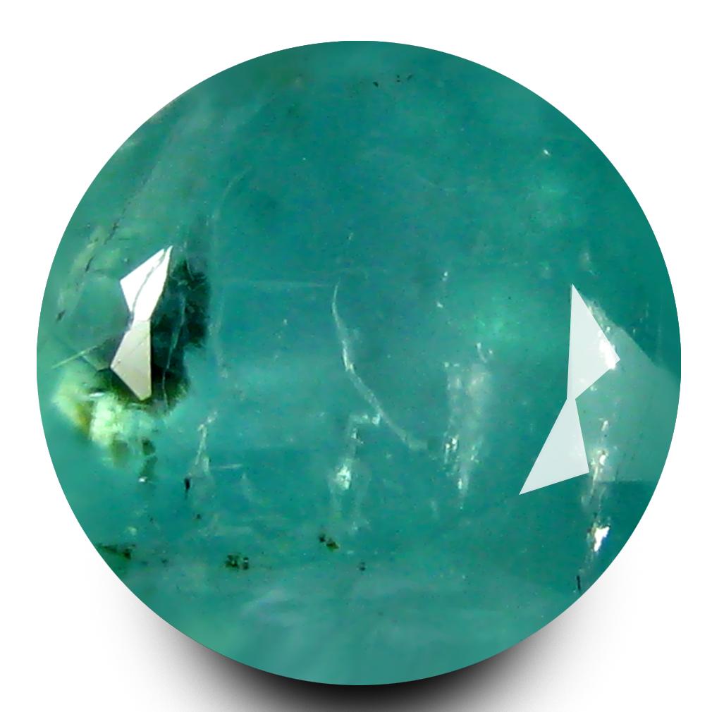 1.14 ct AAA Grade Superb Round Cut (6 x 6 mm) 100% Natural Bluish Green Grandidierite Gemstone