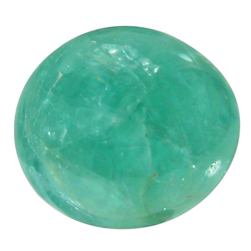 3.53 ct Topnotch Oval Cabochon Cut (10 x 9 mm) Un-Heated Natural Grandidierite Loose Gemstone