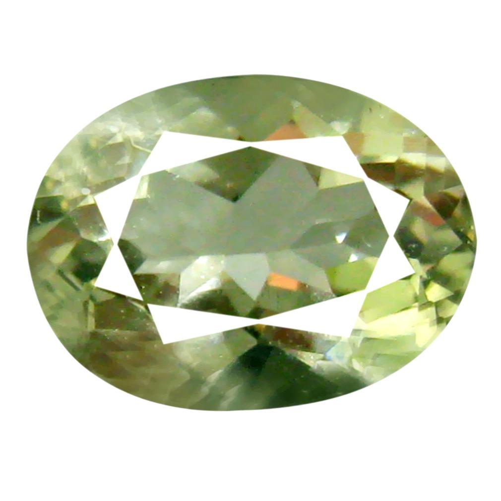 1.49 ct AAA Supreme Oval Cut (5 x 6 mm) Green Green Beryl Natural Gemstone