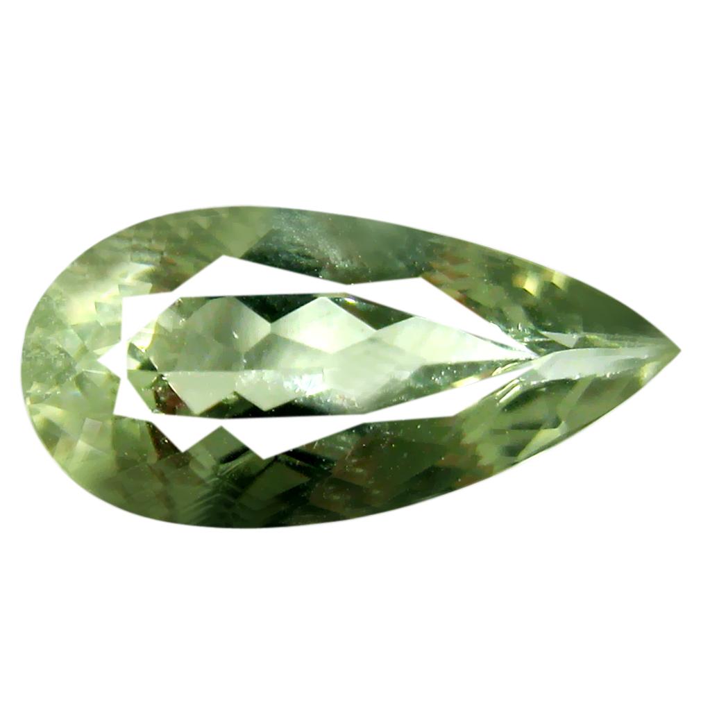 2.64 ct AAA Impressive Pear Cut (15 x 7 mm) Green Green Beryl Natural Gemstone