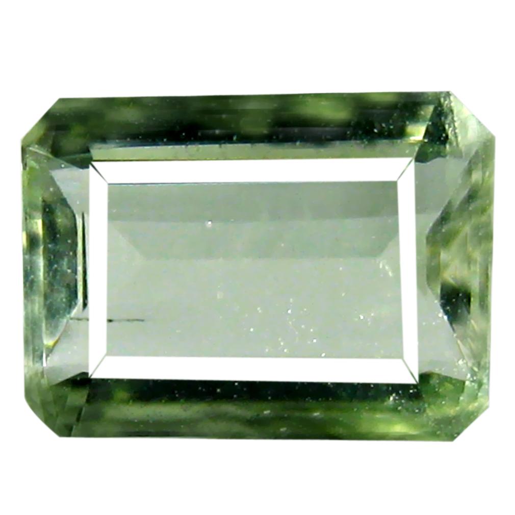 1.11 ct AAA Mesmerizing Octagon Cut (8 x 6 mm) Green Green Beryl Natural Gemstone