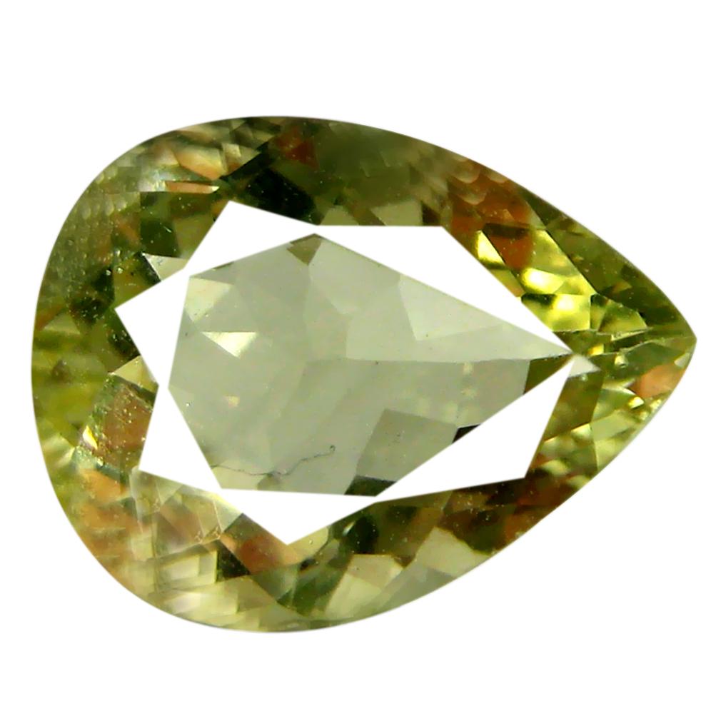 1.95 ct AAA Extraordinary Pear Cut (10 x 8 mm) Yellownish Green Green Beryl Natural Gemstone