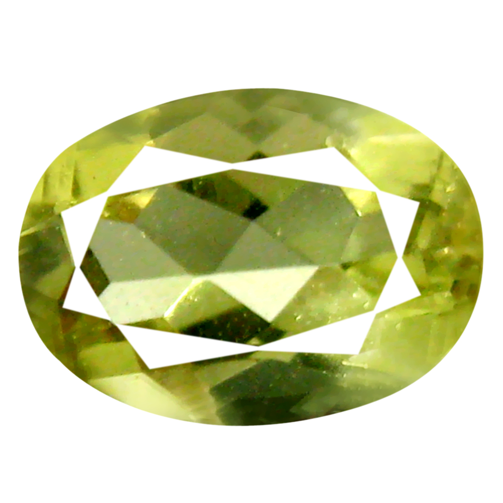 0.78 ct AAA Stunning Oval Cut (7 x 5 mm) Yellownish Green Green Beryl Natural Gemstone